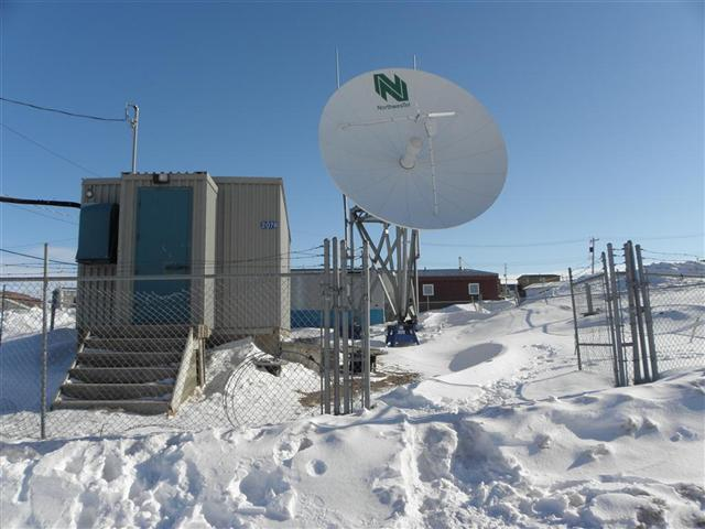 Satellite dish service by Mark Erney for Baker Lake, Nunavut, Canada Gold Mining Camp Picture 11