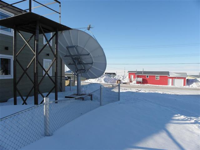 Satellite dish service by Mark Erney for Baker Lake, Nunavut, Canada Gold Mining Camp Picture 7