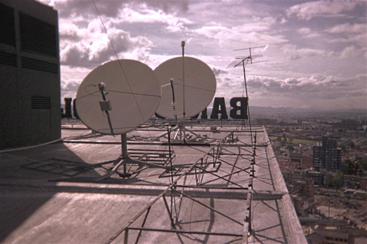 VSAT Satellite Dish Equipment Installation Bogota Colombia Banco De Colombia Mark Erney Satellite Communications East Pictures 1