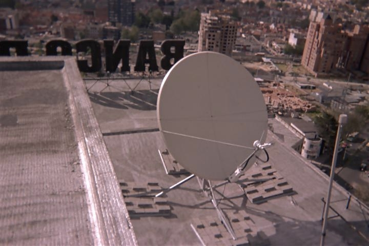 VSAT Satellite Dish Equipment Installation Bogota Colombia Banco De Colombia Mark Erney Satellite Communications East Pictures 4