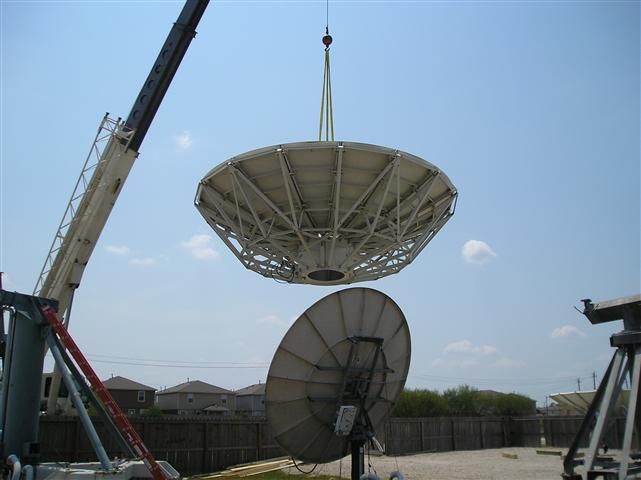 Satellite Earth Station Teleport Removal Dish Shipping Pictures Images by Mark Erney 10