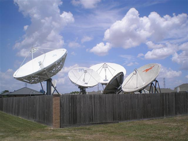 Satellite Earth Station Teleport Removal Dish Shipping Pictures Images by Mark Erney 2