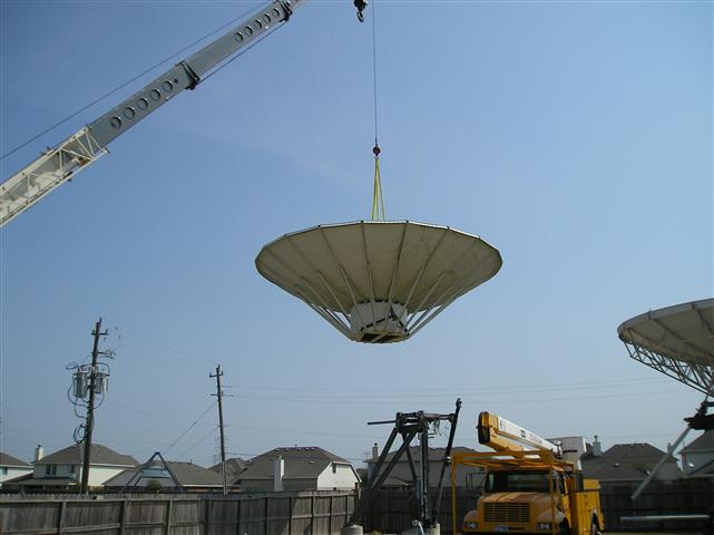 Satellite Earth Station Teleport Removal Dish Shipping Pictures Images by Mark Erney 6