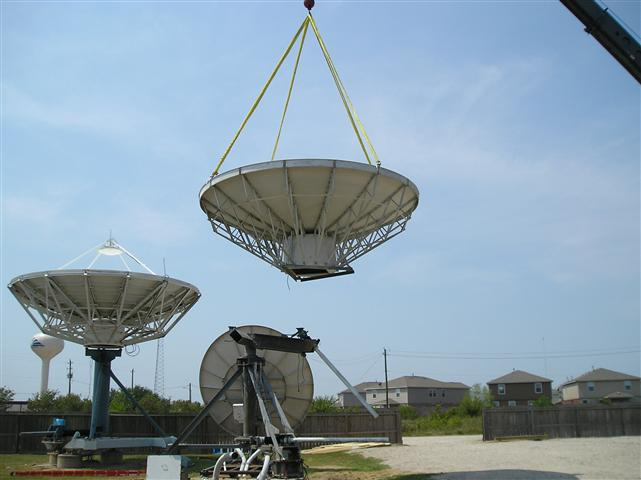 Satellite Earth Station Teleport Removal Dish Shipping Pictures Images by Mark Erney 8