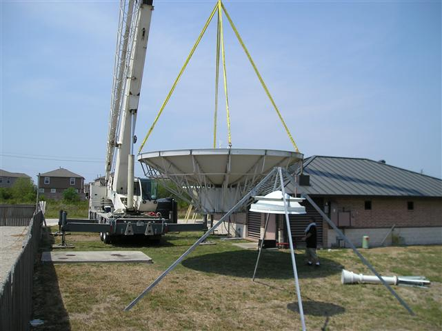 Satellite Earth Station Teleport Removal Dish Shipping Pictures Images by Mark Erney 9