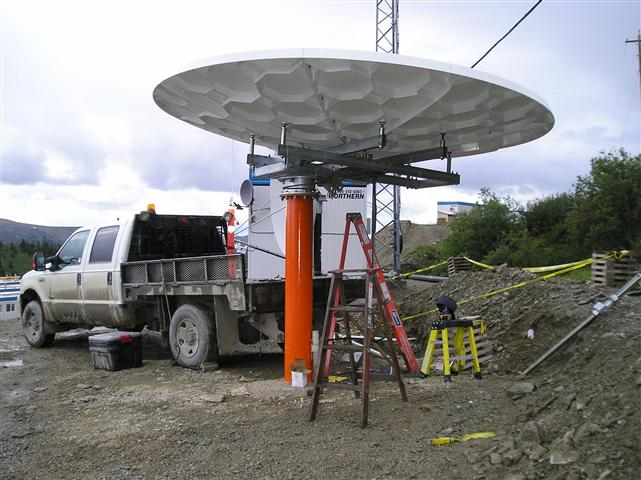 3.8 Meter Satellite Dish Installation Yukon Territory, Canada Pictures and Images Pic 1