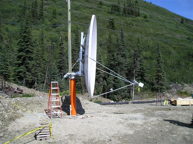 3.8 Meter Satellite Dish Installation Yukon Territory, Canada Pictures and Images Pic 2