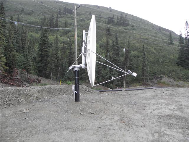 3.8 Meter Satellite Dish Installation Yukon Territory, Canada Pictures and Images Pic 4