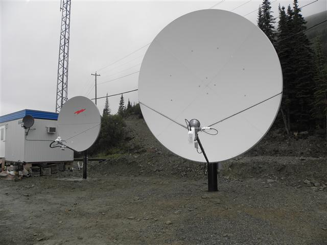 3.8 Meter Satellite Dish Installation Yukon Territory, Canada Pictures and Images Pic 7